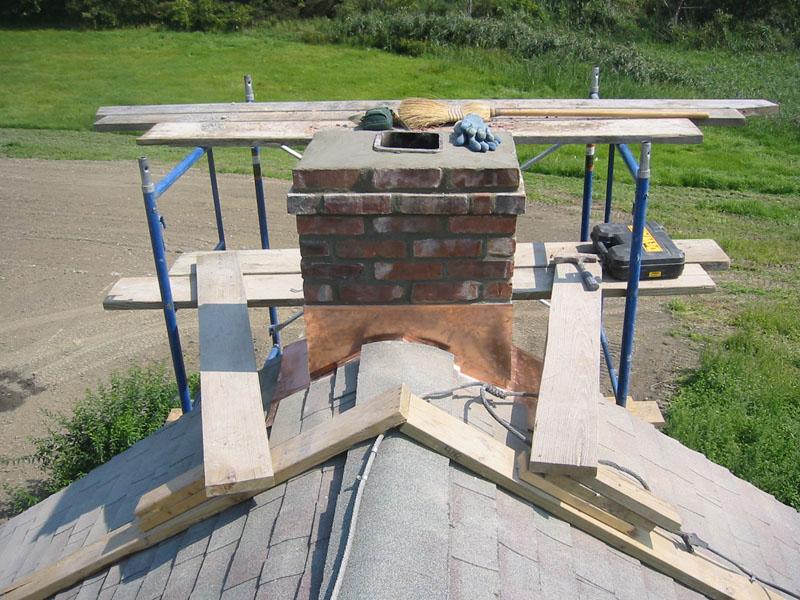 Brick Chimney Cap & Chimney Pictures - Manufactured Stone Chimneys