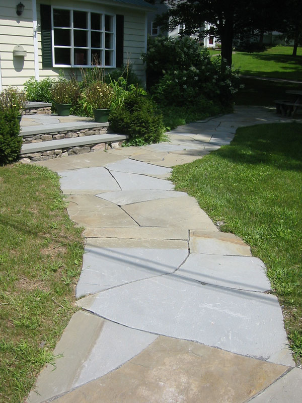 Stone walkway pictures natural square cut and brick Natural stone walkways