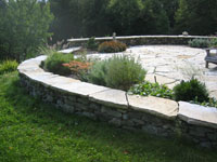 Dry Laid Stone Walls with Stone Patio