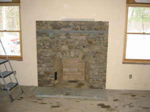 Fieldstone Arch Fireplace