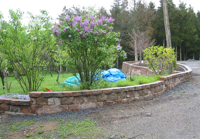 Landscaping With Walls : Stone wall landscaping block