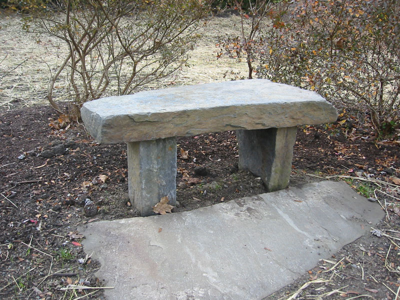 Attrayant Natural Stone Garden Benches