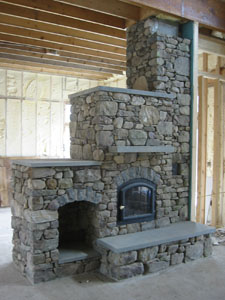 Stone Fireplace - Natural stone Stone Fireplace. Indoor Natural Stone  Fireplaces