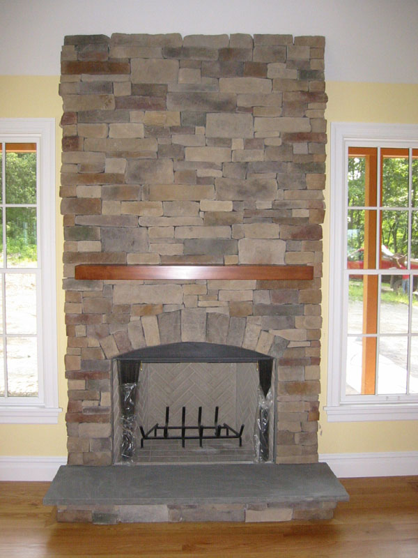 Have the looks of a natural stone fireplace by using manufactured stone fireplaces instead and saving money.