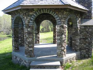 Specialty Stonework Pictures Stone Gazebo Stone Bench