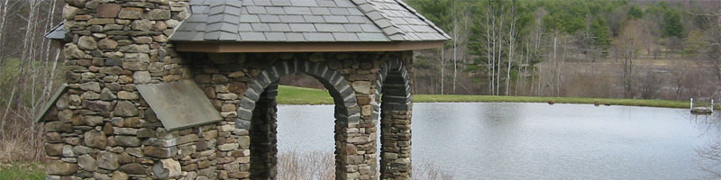 Stone Gazebo with Arches