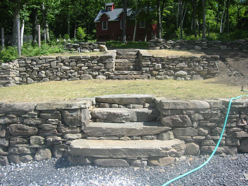 Stone wall pictures field stone stone pillars and for Pictures of stone steps