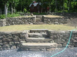 Stone Walls with Natural Stone Steps