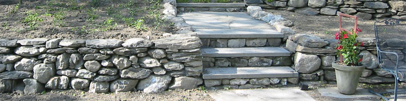 Stone Walls with Stone Steps